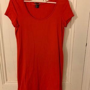 H&M size M basic red tshirt dress